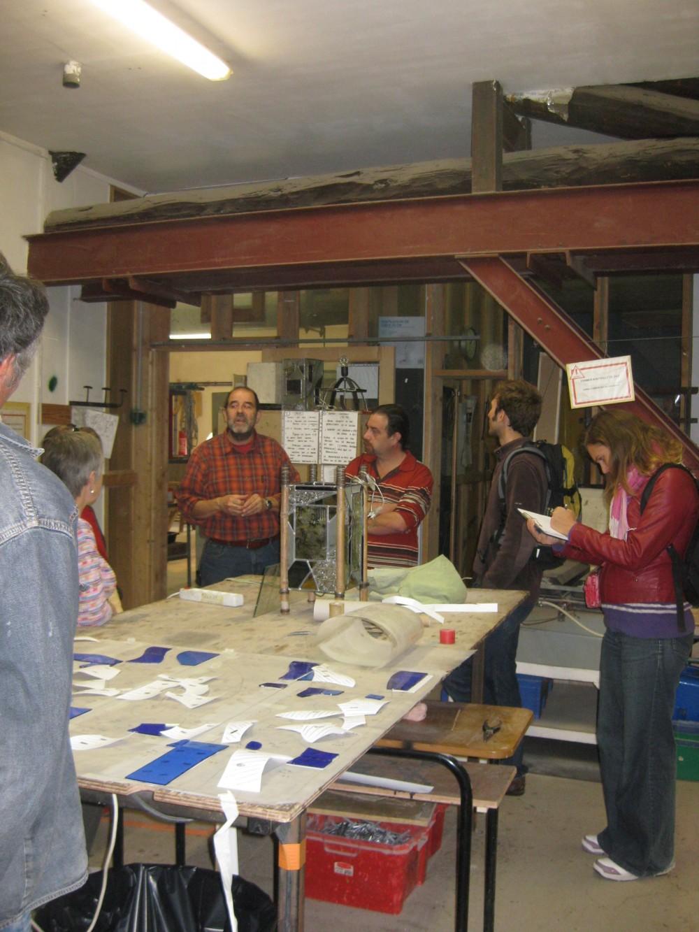 Passerelle, l'atelier des vitraux