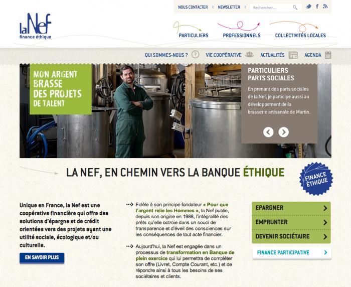 Le site web de la Nef