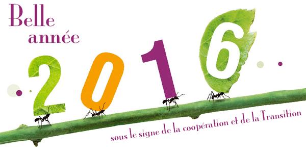 Belle année 2016 sous le signe de la coopération et de la Transition